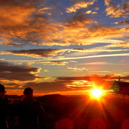 Sonnenuntergang Richtung Schwarzwald